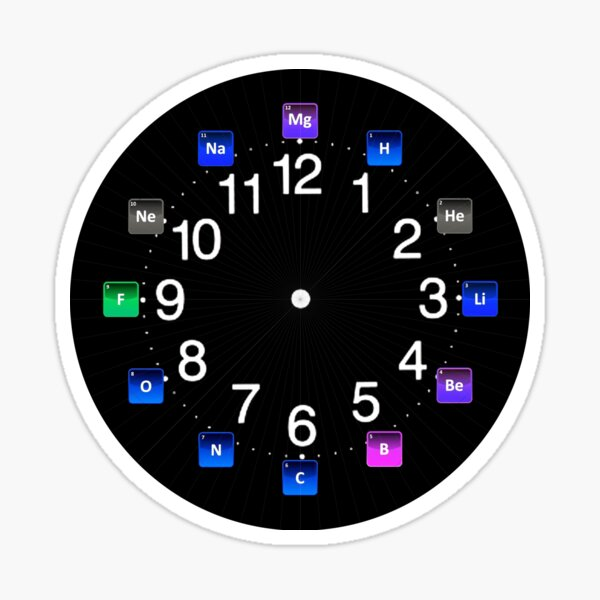 #Chemical #Elements Wall #Clock Sticker