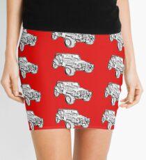 Jeep Wrangler Rubicon Illustration Mini Skirt
