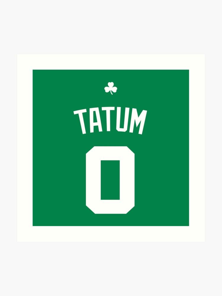 new product de0ce 48cff Jayson Tatum Jersey | Art Print