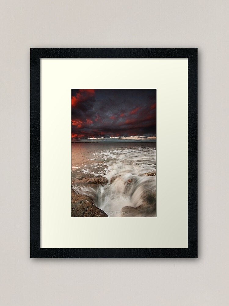 Alternate view of Get in the Hole Framed Art Print