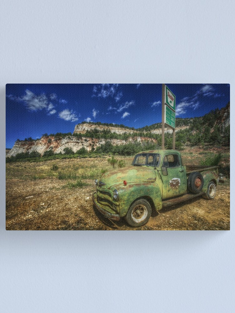 Alternate view of A Chevy and Checkerboard Mesa Canvas Print