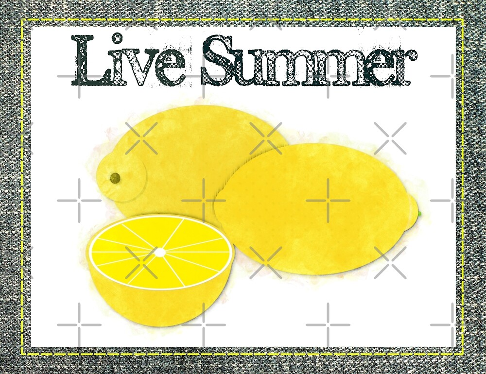 Live Summer - Lemons Watercolor by Colleen Cornelius