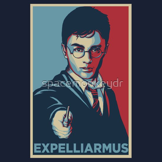 TShirtGifter presents: Expelliarmus Harry Potter Daniel Radcliffe Shirt - In Obama Hope Style