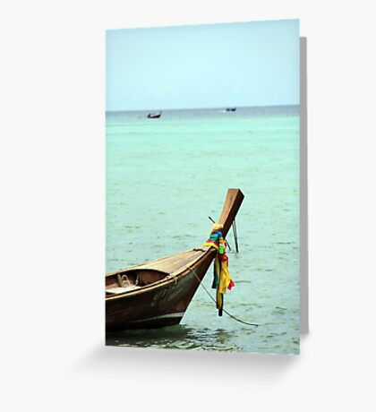 Long Boat Fore Hire Greeting Card