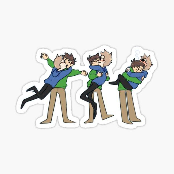 Eddsworld Tom and Edd Hugging Sticker