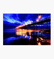 Oceanside Pier After Sunset Photographic Print
