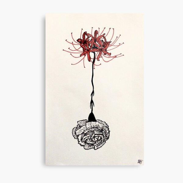 Tokyo Ghoul - Spider Lily Flower Metal Print