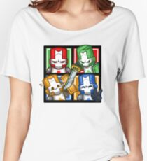 Castle Crashers Four-Square Women's Relaxed Fit T-Shirt