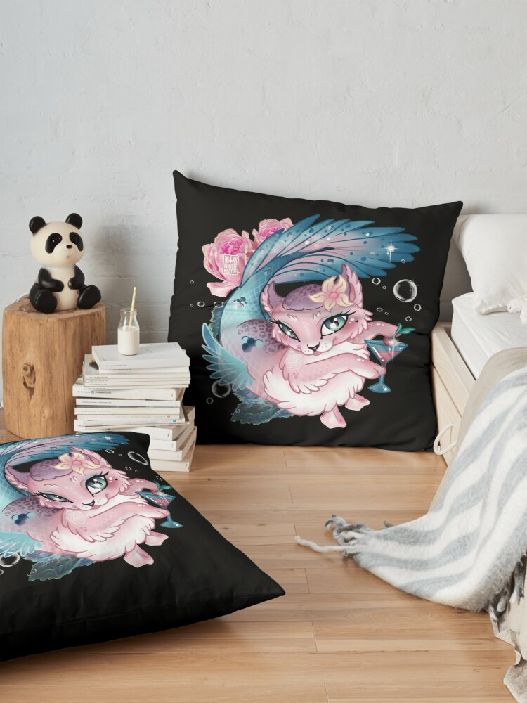 Alternate view of Pretty Little Purrmaid Floor Pillow