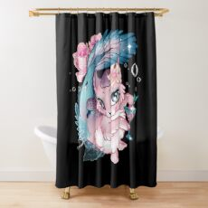 Pretty Little Purrmaid Shower Curtain