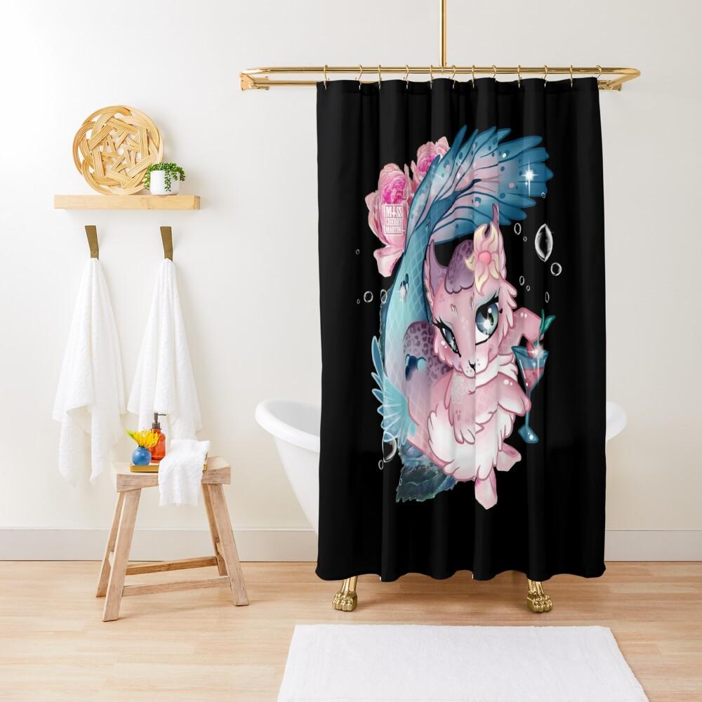 Pretty Little Purrmaid Shower Curtain