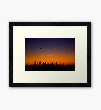 Melbourne Twilight Framed Print