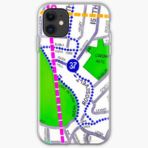 San Francisco map - Buena Vista Park iPhone Soft Case