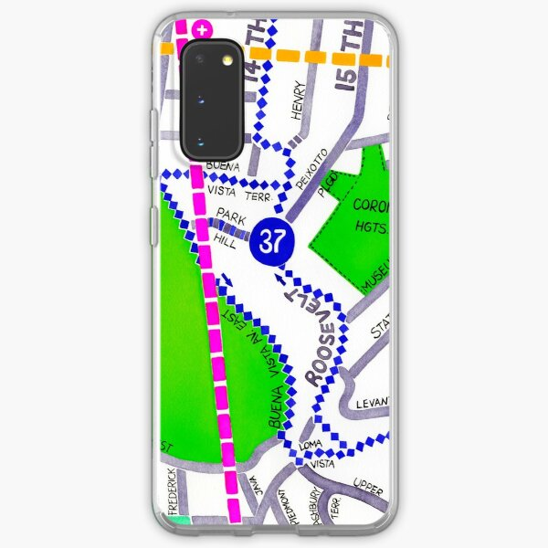 San Francisco map - Buena Vista Park Samsung Galaxy Soft Case