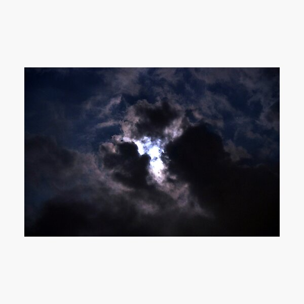 Moon Lite Clouds Photographic Print