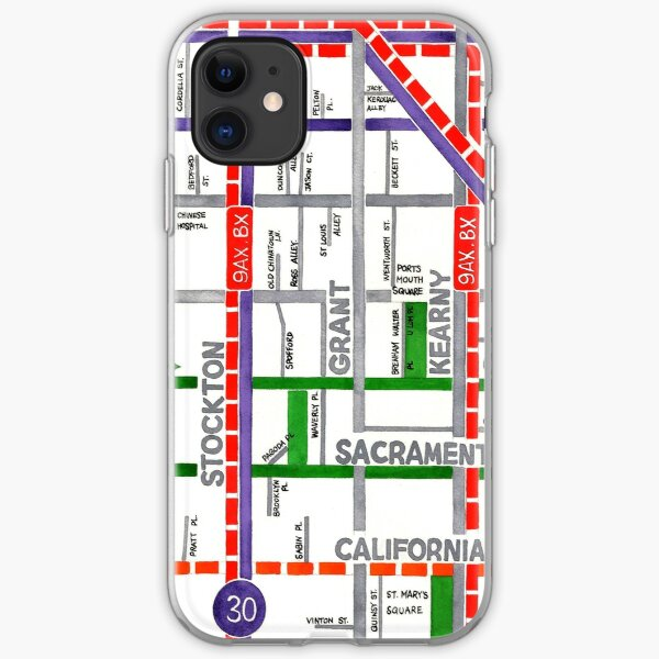 San Francisco map - Chinatown iPhone Soft Case