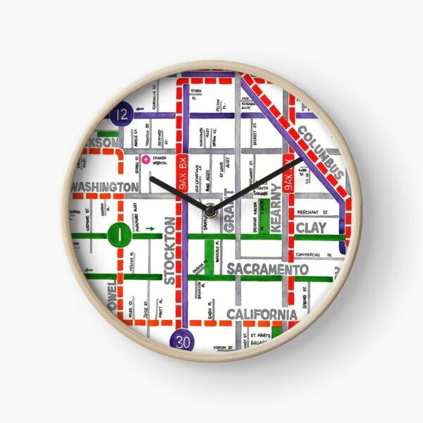San Francisco map - Chinatown Clock