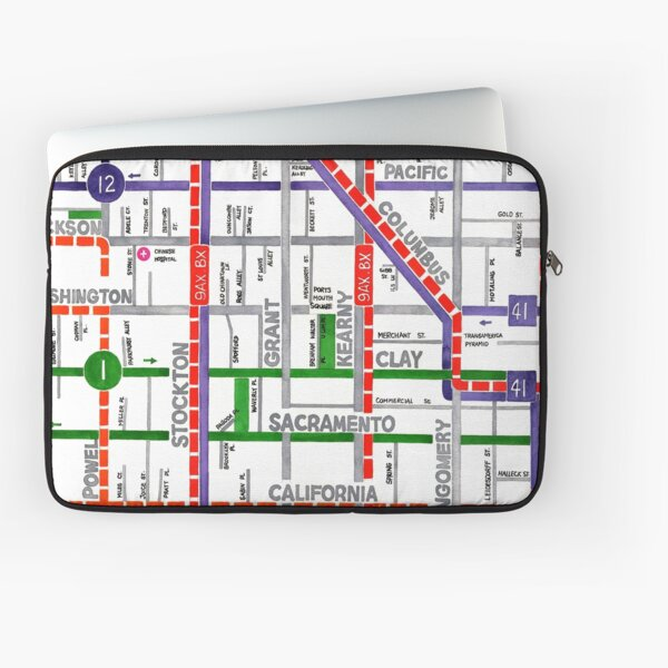 San Francisco map - Chinatown Laptop Sleeve