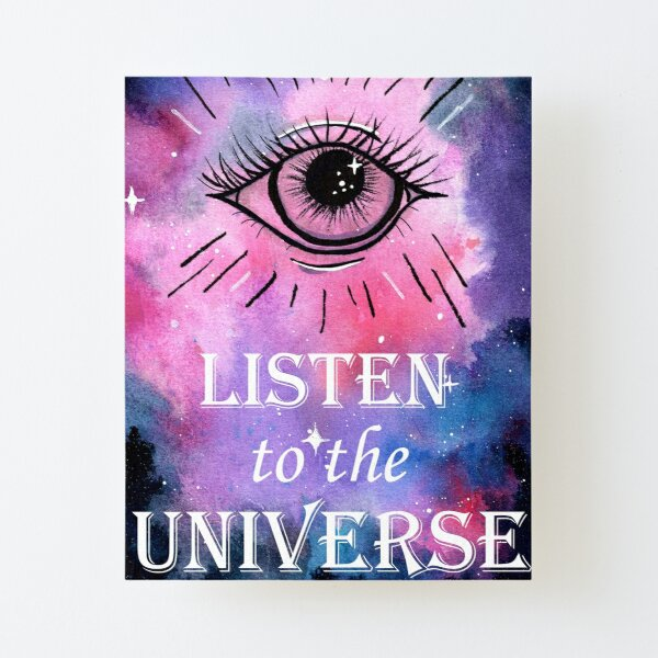 Listen to the Universe Canvas Mounted Print