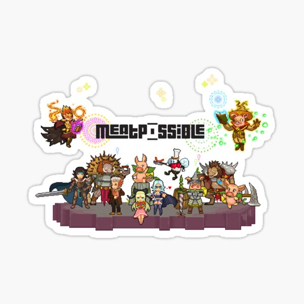 MeatPossible Characters 2 - Epicton Kingdom Sticker