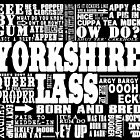 YORKSHIRE LASS WHITE PRINT by DOOLALLY