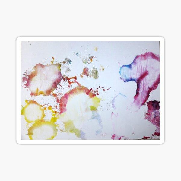White Cellules - Art aléatoire Sticker
