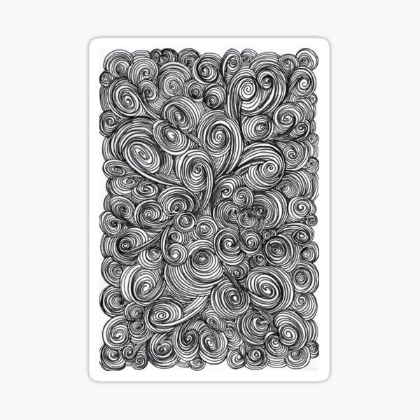 Let Go (black & white) Sticker