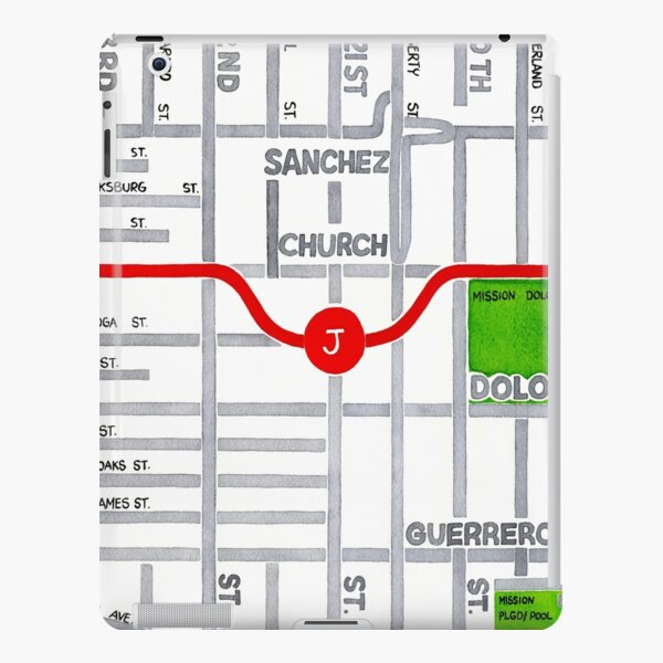 San Francisco map - Dolores Heights iPad Snap Case