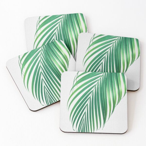 Palm Leaf Coasters (Set of 4)