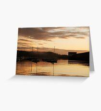 Misty, golden dawn - Baltimore, West Cork, Ireland Greeting Card