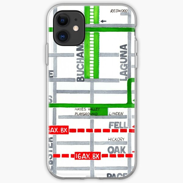 San Francisco map - Hayes Valley iPhone Soft Case