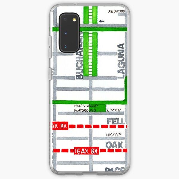 San Francisco map - Hayes Valley Samsung Galaxy Soft Case