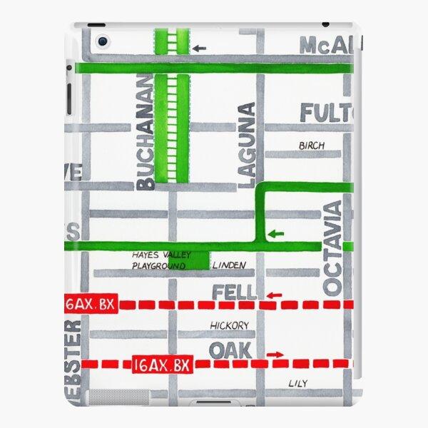 San Francisco map - Hayes Valley iPad Snap Case