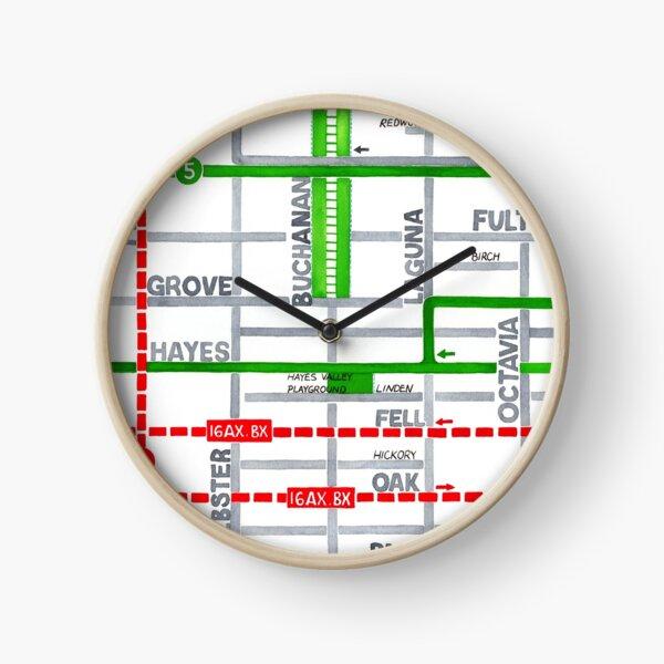 San Francisco map - Hayes Valley Clock