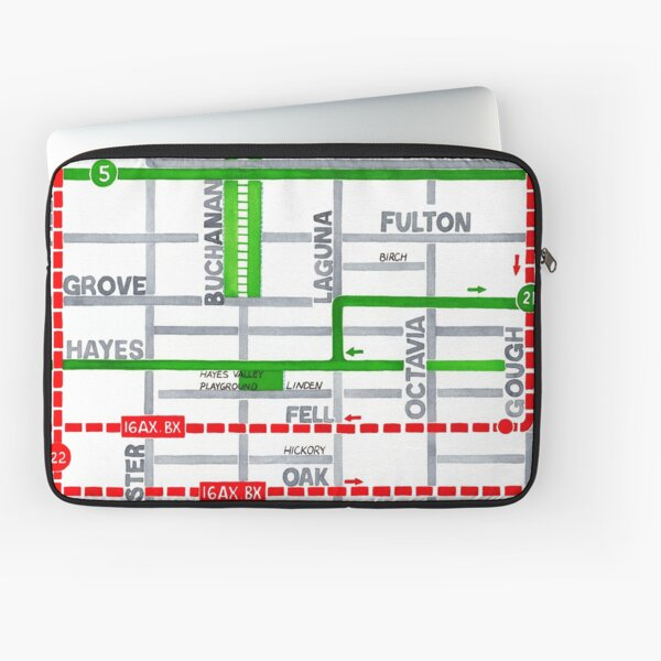 San Francisco map - Hayes Valley Laptop Sleeve