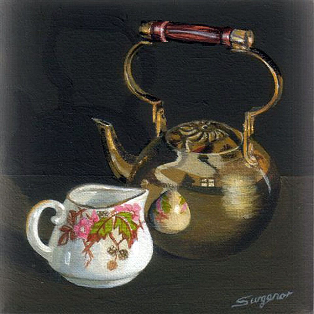The brass teapot by Freda Surgenor