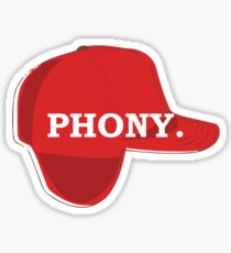 Catcher in the Rye Shirt – Holden Caufield, Phony Sticker