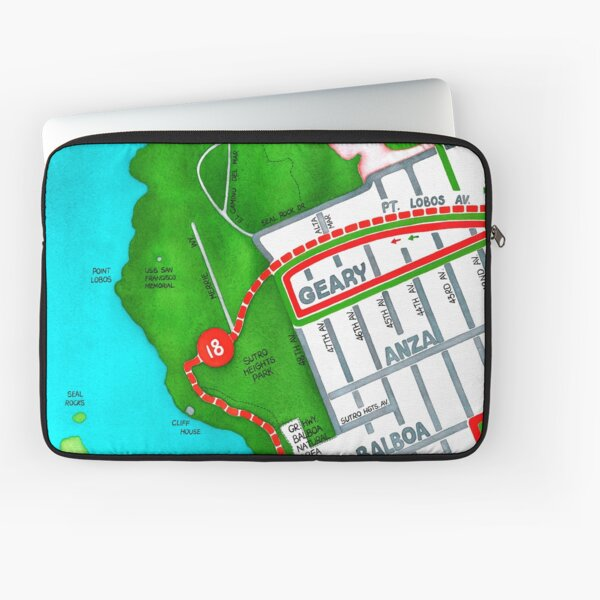 San Francisco map - Outer Richmond Laptop Sleeve