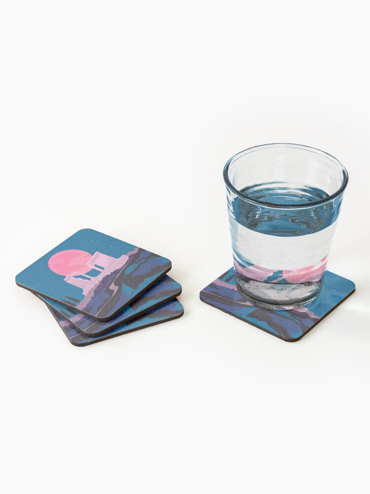 Alternate view of Temple of Poseidon at Sounion Coasters (Set of 4)
