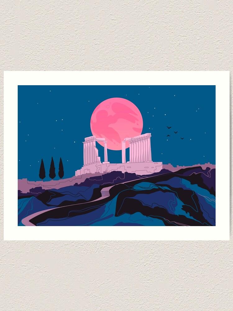 Alternate view of Temple of Poseidon at Sounion Art Print