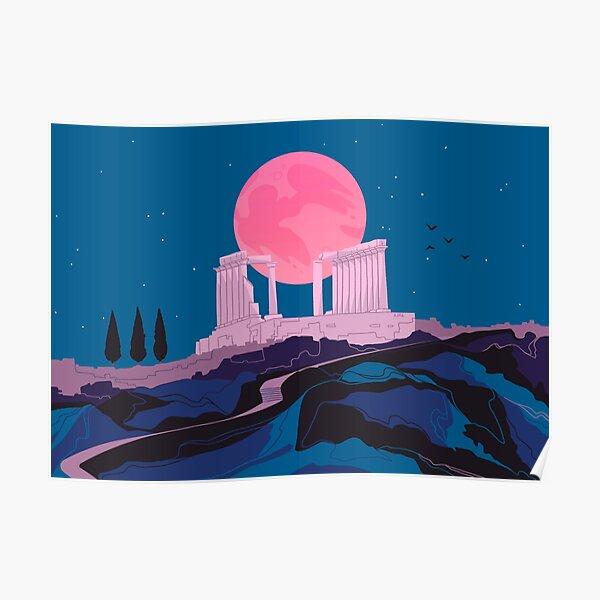 Temple of Poseidon at Sounion Poster