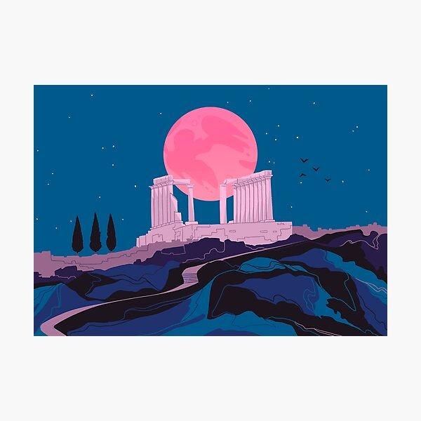 Temple of Poseidon at Sounion Photographic Print