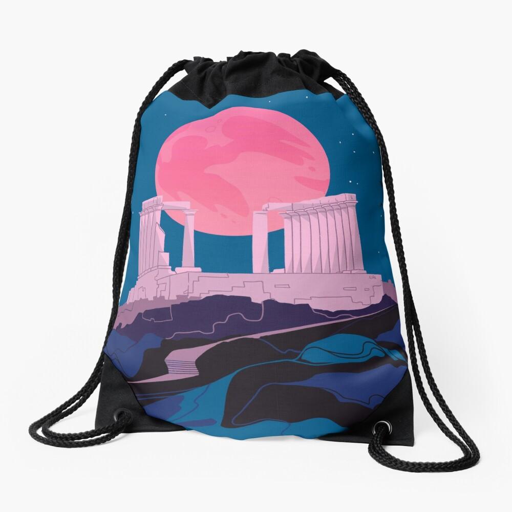 Temple of Poseidon at Sounion Drawstring Bag