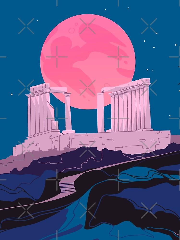 Temple of Poseidon at Sounion by flaroh