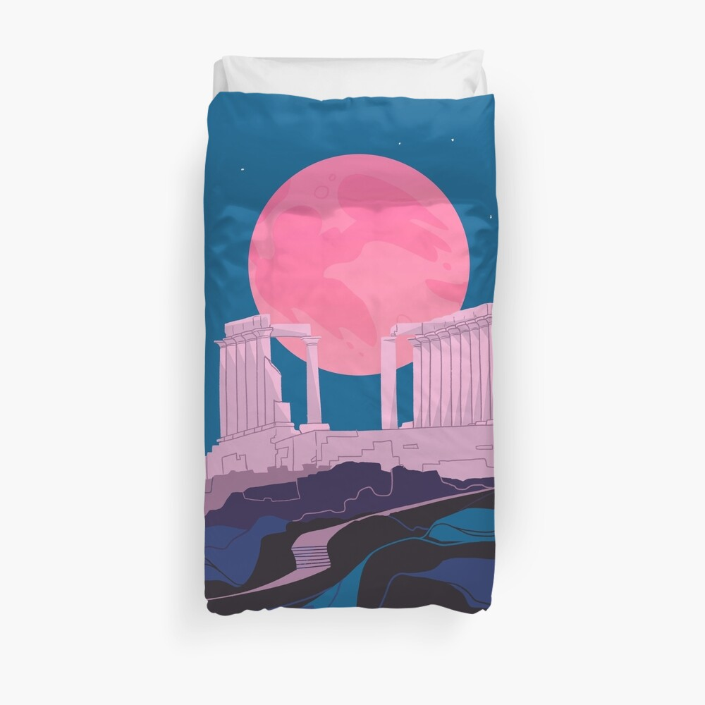 Temple of Poseidon at Sounion Duvet Cover