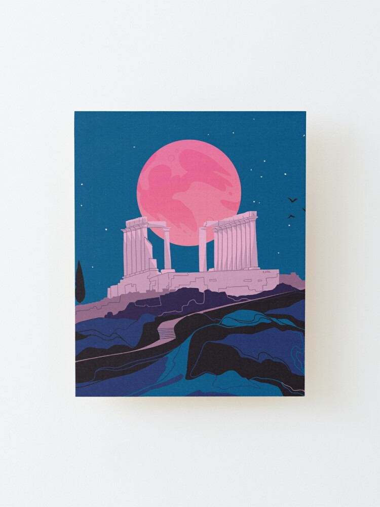 Alternate view of Temple of Poseidon at Sounion Mounted Print