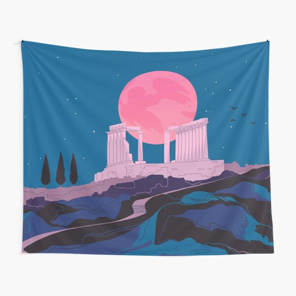 Temple of Poseidon at Sounion Tapestry