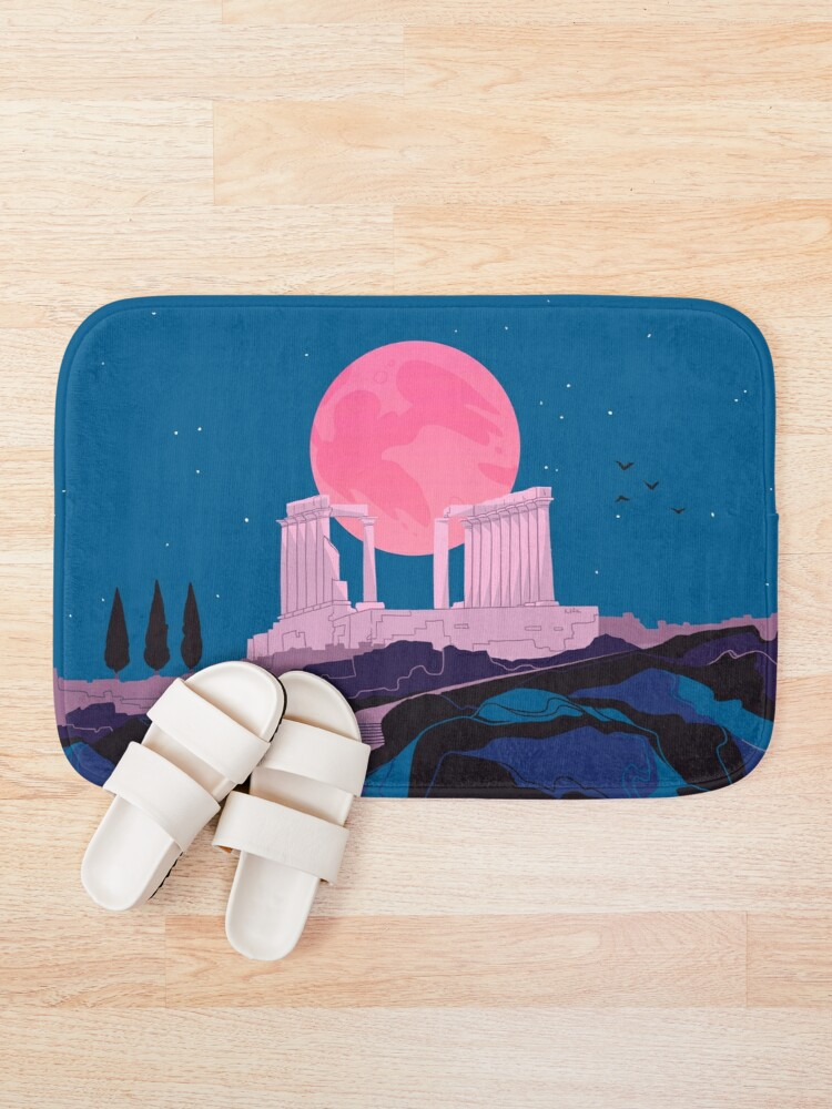 Alternate view of Temple of Poseidon at Sounion Bath Mat