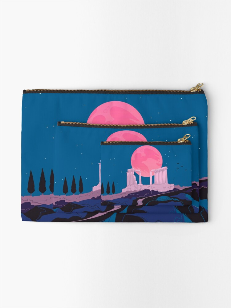 Alternate view of Temple of Poseidon at Sounion Zipper Pouch