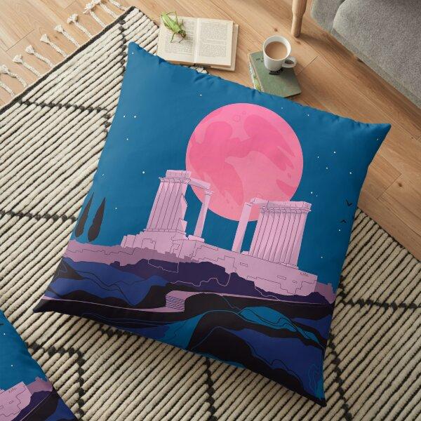 Temple of Poseidon at Sounion Floor Pillow